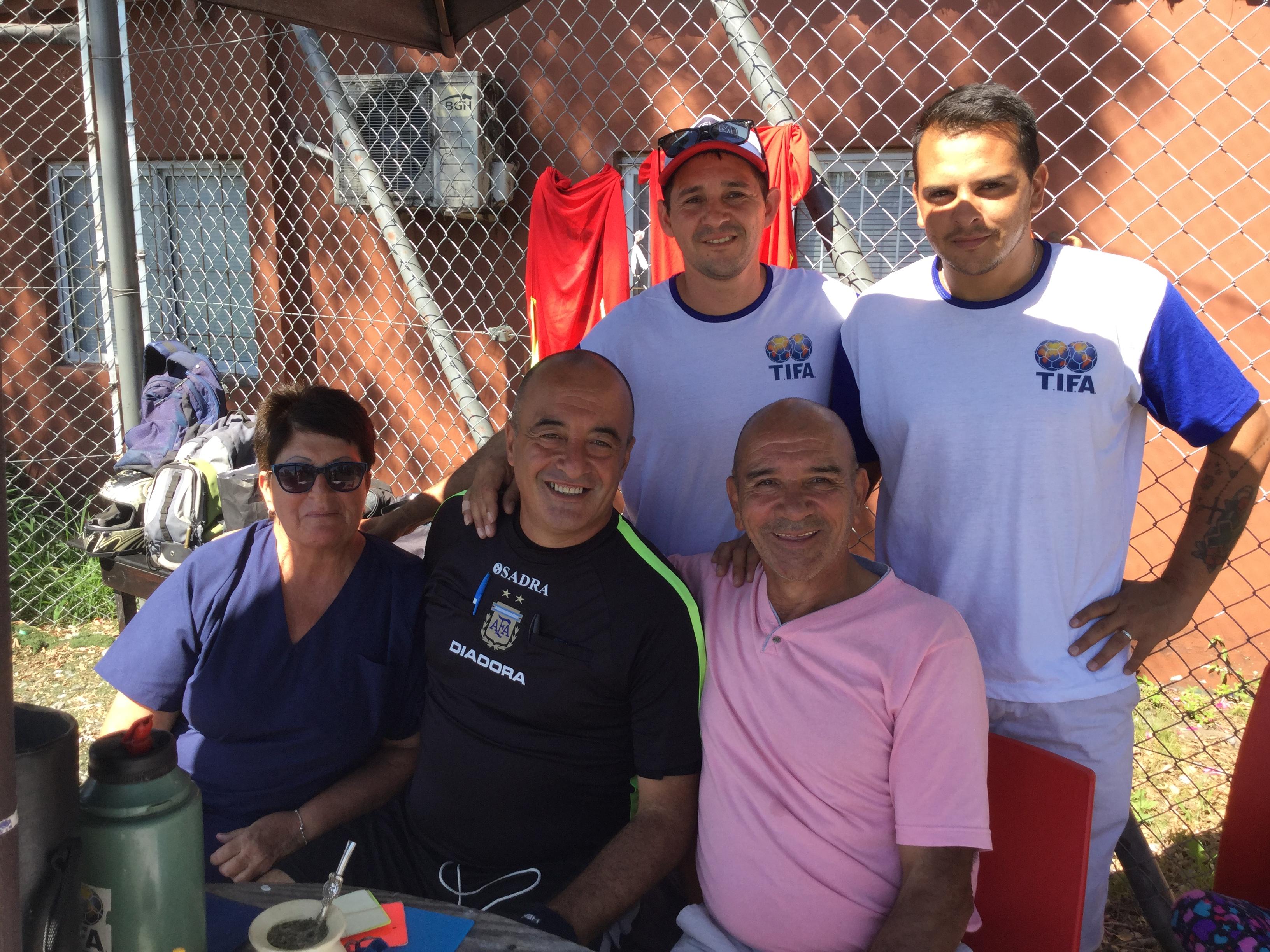 Estuvimos visitando las instalaciones de Grün FC y conversamos con el equipo de TIFA, organizadores de varios torneos masculinos que se juegan en el club de Núñez.
