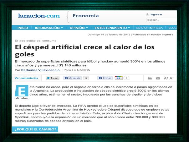 """<strong>El sitio líder del fútbol amateur mencionado en el diario """"La Nación"""".</strong>"""
