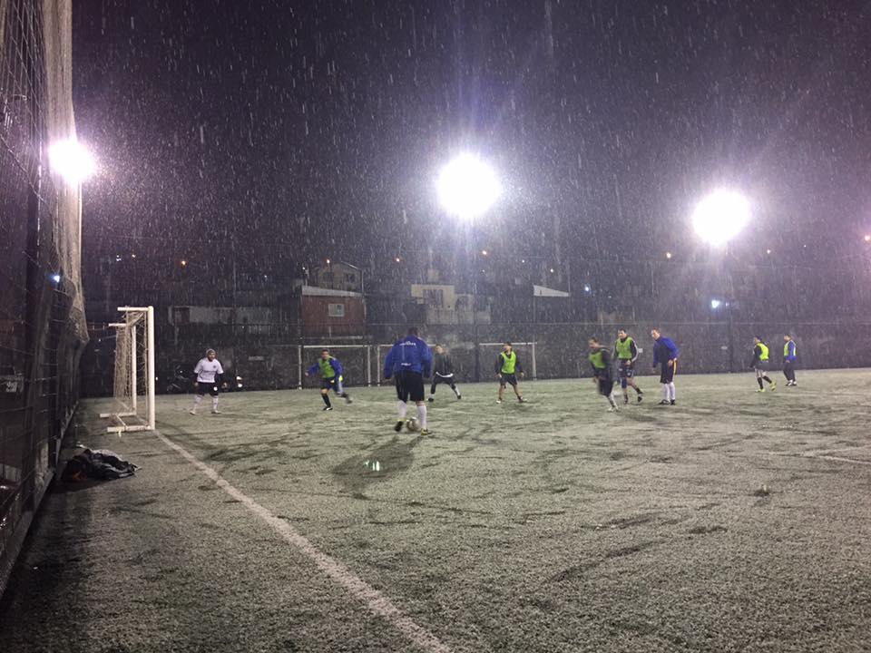 Fútbol amateur y nieve en Bariloche